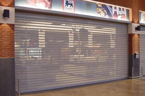 doorzichtige winkelrolluik